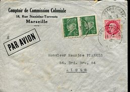 COMPTOIR DE COMMISSION COLONIALE SOBRE CIRCULADO FRANCIA  ZTU. - Frankreich