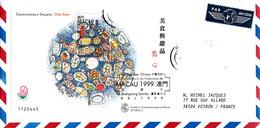 LETTRE COVER MACAO MACAU CHINA  - BLOC  YV N°77 Mi N° 67 - GASTRONOMIA E DOCARIA - DIM SUM - 1999-... Sonderverwaltungszone Der China