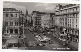 Autriche-- VIENNE--1959--Karntnerstrasse Mit Stephansdom (animée,scooters,nombreuses Voitures Dont  Citroen Traction) - Autres