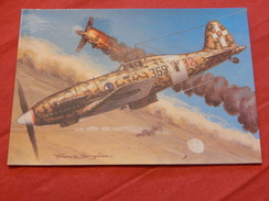 "MILITARIA  -  AVIONS DE CHASSE -  "" Macchi C. 202 Folgore ""   (Italie)      - (Dessin F. Bergèse ) - Guerre 1939-45"
