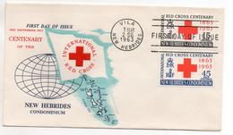 NEW-HEBRIDES - NOUVELLES HEBRIDES - ENVELOPPE 1er JOUR - FDC - INTERNATIONAL RED CROSS - 1963 - - FDC