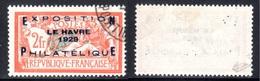 N° 257A (EXPO LE HAVRE 1929 Signé CALVES)  COTE= 875 Euros !!! - France
