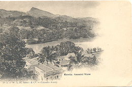 Ceylon, Kandy, General View  (Sri Lanka)  (Ceylan) - Sri Lanka (Ceylon)