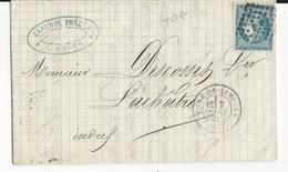 1871 - HAUTE VIENNE - TYPE BORDEAUX Sur LETTRE De LIMOGES Avec CACHET De GARE + LOSAGE P P Pour LACHATRE - Poststempel (Briefe)