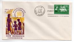 NEW-HEBRIDES - NOUVELLES HEBRIDES - ENVELOPPE 1er JOUR - FDC - WORLD CAMPAIGN FREEDOM FROM HUNGER - 1963 - - FDC
