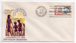 NOUVELLES-HEBRIDES - ENVELOPPE 1er JOUR - FDC - CAMPAGNE MONDIALE CONTRE LA FAIM - 1963 - - FDC