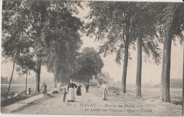 HAVAY   ROUTE  DE  MONS -  ARRET  DU  VICINAL - Quévy