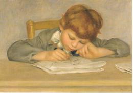Carte Postale. Pierre-Auguste RENOIR. Jean Renoir Dessinanrt 1901. Reproduction Réunion Des Musées Nationaux. - Peintures & Tableaux