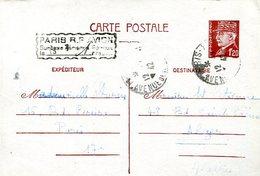 CARTA POSTALE CIRCULADA  PARIS POR AVION  ZTU. - France