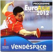 FRANCE - Programme EURO ASIE 2012 - Tennis Table Tischtennis Tavolo - Tennis De Table