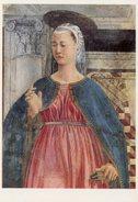Arezzo - Santino Cartolina ANNUNCIO A MARIA DELLA SUA ASSUNZIONE (Piero Della Francesca) - PERFETTO N21 - Religione & Esoterismo