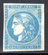 N° 45C (Cérès Neuf*) Signé CALVES: COTE= 1750 Euros !!! - 1870 Bordeaux Printing