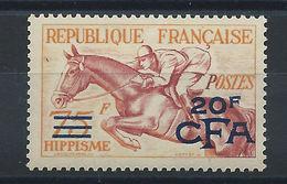 """Réunion (CFA) N° 318** (MNH) 1953-54 - """"Hippisme"""" - Réunion (1852-1975)"""
