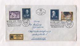 Austria AM80 Cover 1964 Registered Exhibition UM Vienna 4v - Austria