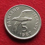 Falkland  Islands 5 Pence 1987 KM# 4.1 Albatross Malvinas Malwinen - Falkland Islands
