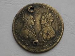 Medaille Russie 1813    Francois I  Kaiser D Autriche  Et   Tsar Alexandre De Russie Victoire Des Alliés Vs Napoleon - Royaux / De Noblesse