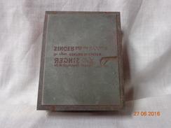 SINGER   TIMBRO PUBBLICITA' ORIGINALE DEPOCA - Timbri