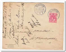 Brief Van Hilversum Naar Wormerveer Stempel Hilversum 15.2.09.5-6n Wormerveer 15.2.09.8-9N (Tine Roozendaal TandartsHil) - Periode 1891-1948 (Wilhelmina)