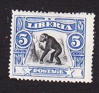 Liberia, Scott #103, Mint Hinged, Chimpanzee, Issued 1906 - Liberia