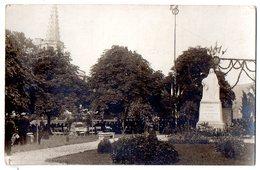 CARTE PHOTO ANIMEE CHALABRE DISCOURS MUSIQUE MONUMENT AUX MORTS - Francia
