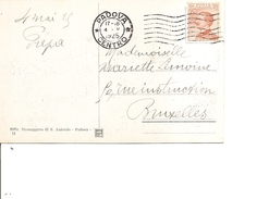 Italie ( CP De 1925 De Padova  Vers La Belgique à Voir) - Marcofilía