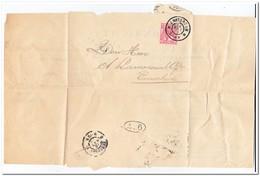 Brief Amsterdam Naar Enschede Stempel Amsterdam 18 Mrt 03 3-4N Enschede 18 Mrt 03 9-10N En Postbodestempel - Periode 1891-1948 (Wilhelmina)
