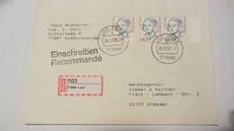 BRD: R-Brief 150 Pf Frauen Mit Neu Eingef.R-Zettel Nach Der PLZ-Umstellg, Stpl Mit Einstellfehler 26.17.93 Knr 1497(3) - Covers & Documents