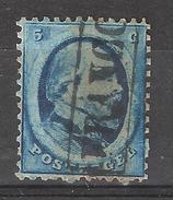 NEDERLAND / Pays Bas / Netherlands ,1864, Guillaume III, Yvert N° 4, 5 C Bleu Dentelé  , Obl, TB - Gebraucht
