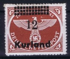 Deutsche Reich Kurland Mi 4 B MNH/**/postfrisch/neuf Sans Charniere   BBP Signed/ Signé/signiert/approvato