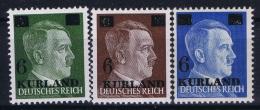 Deutsche Reich Kurland Mi 1 - 3  MNH/**/postfrisch/neuf Sans Charniere  2x BBP Signed/ Signé/signiert/approvato
