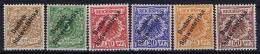 Deutsch Südwestafrika  Mi Nr 5 - 10 MH/* Falz/ Charniere  1898  3 Pf = (*)