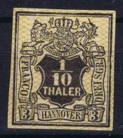 Hannover Mi Nr 12   MH/* Falz/ Charniere  1856-1857 Weitmaschiger Netzwerk  Has A Thin Spot At Top
