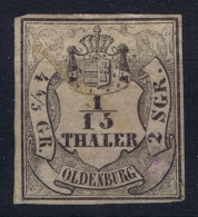 Oldenburg Mi Nr  3 II MH/* Falz/ Charniere  Signiert, Has A Tiny Thin Spot In Middle
