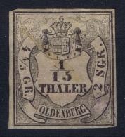 Oldenburg Mi Nr  3 II   Used Oil Gebracht Signiert, Has A Tiny Thin Spot In Middle - Oldenburg