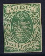 Sachsen Mi Nr  2 I MH/* Falz/ Charniere  1851 Erste Auflage - Sachsen