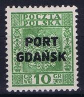 Danzig  Port Gdansk Mi Nr 27 MNH/**/postfrisch/neuf Sans Charniere 1934  Signed/ Signé/signiert - Dantzig