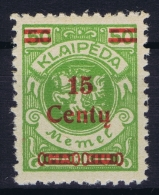 Memel Mi Nr  213 MNH/**/postfrisch/neuf Sans Charniere 1923 - Klaipeda