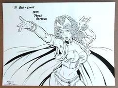 Artist *Peter Repovski* Titulo *Witch* Dibujo Original A Lapiz Y Tinta. Medidas Aprox: 200x300 Mms. - Dibujos