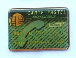 Pin's FRANCE TELECOM - Carte PASTEL INTERNATIONALE - Carte à Puce - Promoplus - F1045 - France Telecom