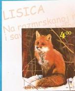 2006  452 FAUNA WWF VULPES ROTFUCHS  BOSNIEN HERZEGOWINA RRRR  IMPERFORATE  RRR SEHR SELTEN MNH - Unused Stamps