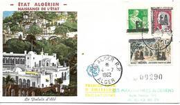 ALGERIE  ALGER  1)émission Provisoire Surchargée E A  4/07/62 - Algeria (1962-...)