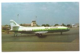Air Afrique Caravelle 11R Aerospatiale SE 210 Lome Togo Aviation Postcard Yaounde - 1946-....: Modern Era