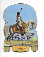 Mère Picon. Plaquette Métallique Lithographiée. Soldats De L'Empire N°1 L'Empereur Napoléon - Plaques En Tôle (après 1960)