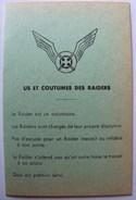 SCOUTISME - CARTE RAIDER SCOUTS DE FRANCE - (vierge) - Scoutisme