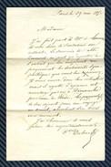 Lettre D'Edouard DUBOIS En Rapport Avec Alphonse De LAMARTINE - 1850 - Marcophilie (Lettres)