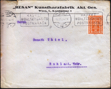 Austria Vienna 1922 / Resin Factory / Use Charity Stamps / Machine Stamp - Factories & Industries