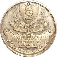 GUERNSEY. MEDALLA DE LA CORONACION DEL REY JORGE V Y LA REINA MARY. 1.911. GREAT BRITAIN MEDAL - Monarquía/ Nobleza