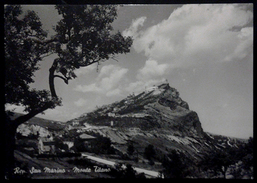 Rep. San Marino - Monte Titano, Cartolina Anni 50 - San Marino