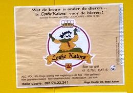 Beer Label Belgium Achouffe Lowie Kators - Beer
