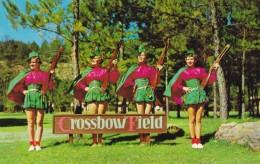 Blanchard Springs Arkansas, Crossbow Field, Crossbow Tournament, Ozark National Forest Area, C1950 Vintage Postcard - Tir à L'Arc
